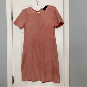 J.Crew Collection pink suede lace up back dress